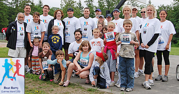 Guemes island library dog island run 2009 for T shirts by design anacortes